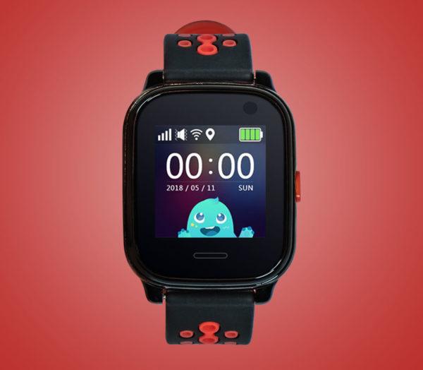 Kids tracker watch in black